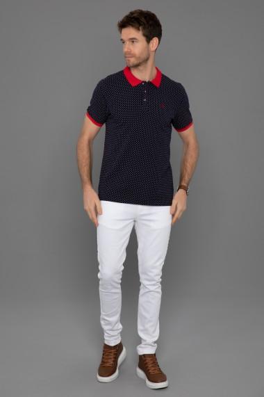 Tricou Polo Paul Parker PA425400 Bleumarin