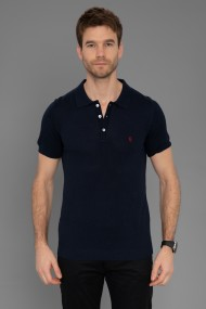 Tricou Polo din tricot Paul Parker PA435124 Bleumarin