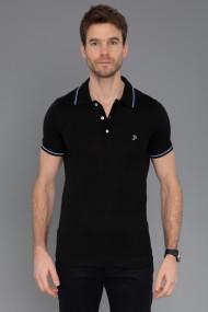 Tricou Polo din tricot Paul Parker PA480322 Negru