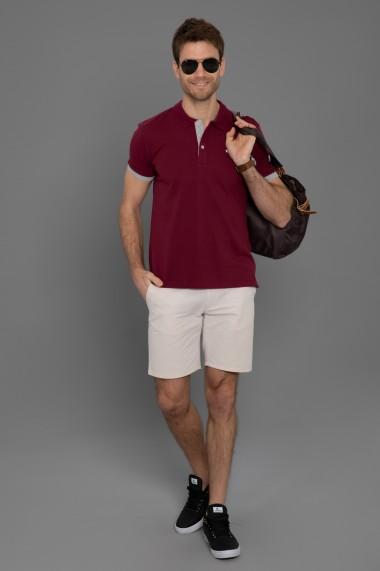 Tricou Polo Paul Parker PA568180 Bordo