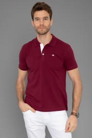 Tricou Polo Paul Parker PA611410 Bordo