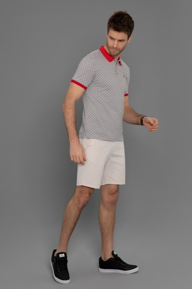 Tricou Polo Paul Parker PA645437 Gri