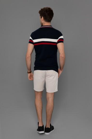 Tricou Polo din tricot Paul Parker PA815542 Bleumarin