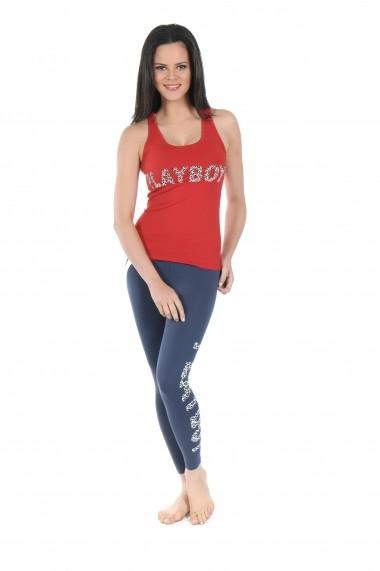 Pijama lunga Playboy PBN122RED Rosu