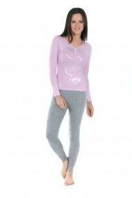 Pijama lunga Playboy PBN124PINK Roz