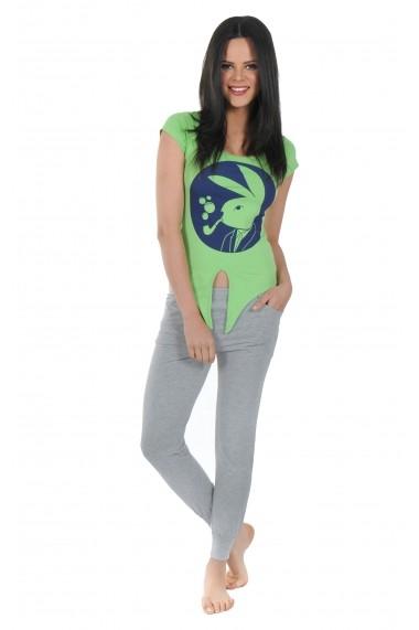 Pijama lunga Playboy PBN137GREEN Verde
