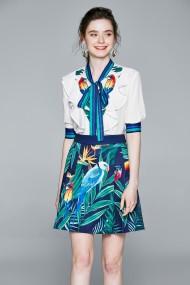 Set camasa si fusta Kaimilan QY771 Multicolor