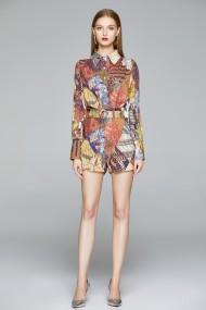 Set camasa si pantaloni scurti Kaimilan QY849 Multicolor