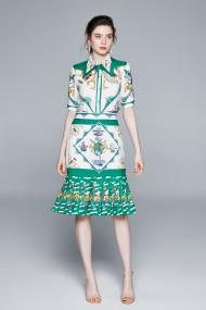 Set camasa si fusta Kaimilan QY942 Multicolor