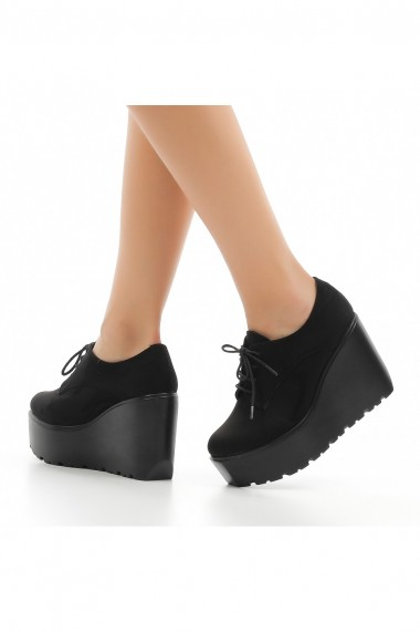 Pantofi cu platforma DELISIYIM Revel Negru