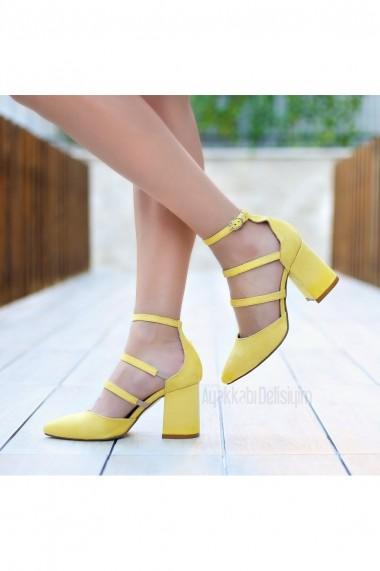 Pantofi cu toc DELISIYIM Rovi Galben