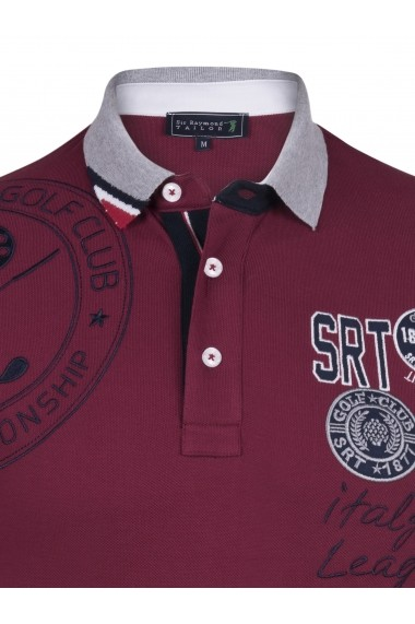 Tricou Polo Sir Raymond Tailor SI8018242 bordo