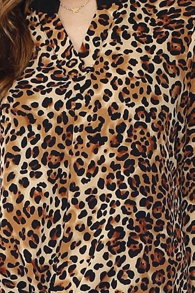 Tunica Assuili din poliester A21-30 Animal print