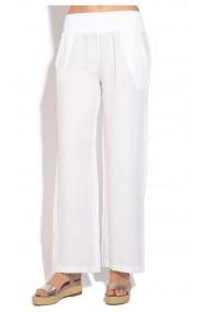 Pantaloni Le Jardin du Lin E18-45 Alb