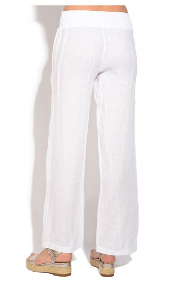 Pantaloni de vara Le Jardin du Lin E18-45 Alb