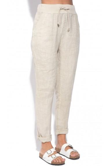 Pantaloni Le Jardin du Lin E18-46 Bej