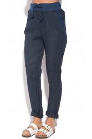Pantaloni Le Jardin du Lin E18-46 Bleumarin