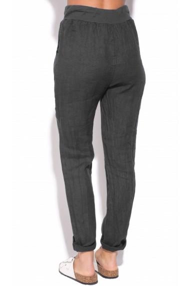 Pantaloni Le Jardin du Lin E18-46 Negru