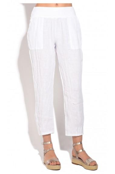 Pantaloni Le Jardin du Lin E18-48 Alb