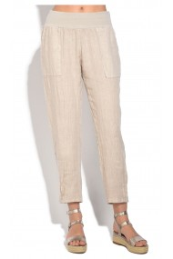 Pantaloni de vara Le Jardin du Lin E18-48 Bej