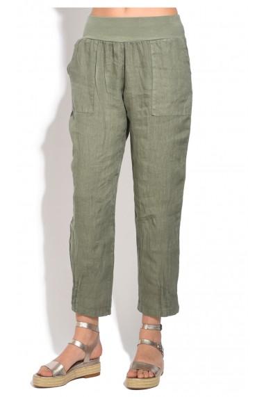 Pantaloni de vara Le Jardin du Lin E18-48 Kaki