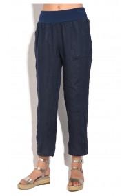Pantaloni Le Jardin du Lin E18-48 Bleumarin