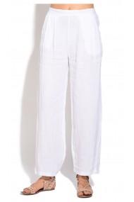 Pantaloni Le Jardin du Lin E18-50 Alb