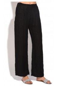 Pantaloni Le Jardin du Lin E18-50 Negru