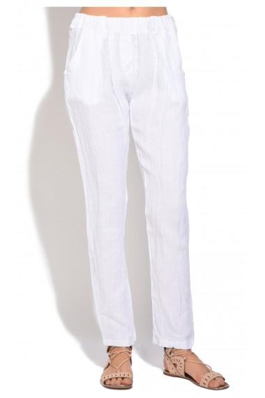 Pantaloni de vara Le Jardin du Lin E18-51 Alb