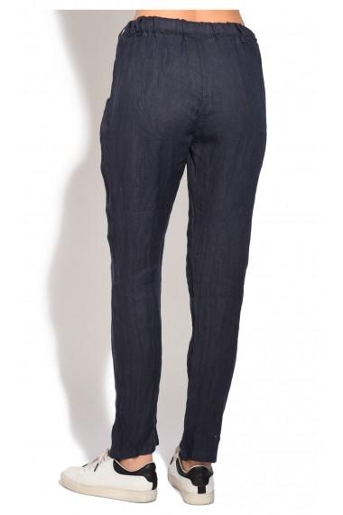 Pantaloni Le Jardin du Lin E18-51 Bleumarin