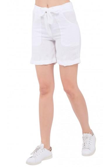 Pantaloni scurti Le Jardin du Lin E19-03 Alb