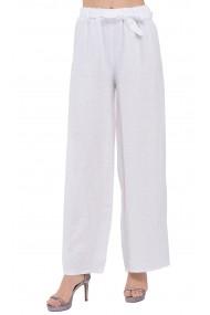 Pantaloni Le Jardin du Lin E19-10 Alb