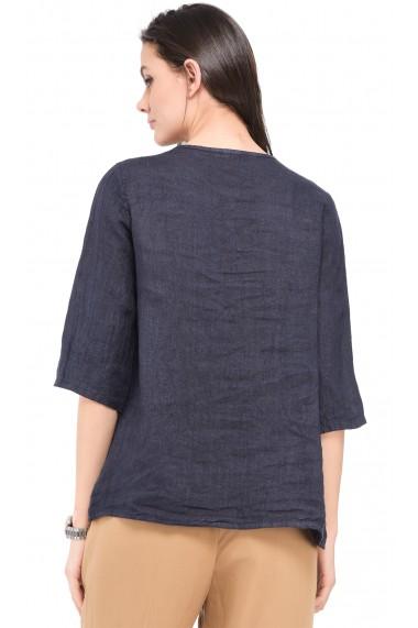 Bluza de vara Le Jardin du Lin E19-12 Bleumarin
