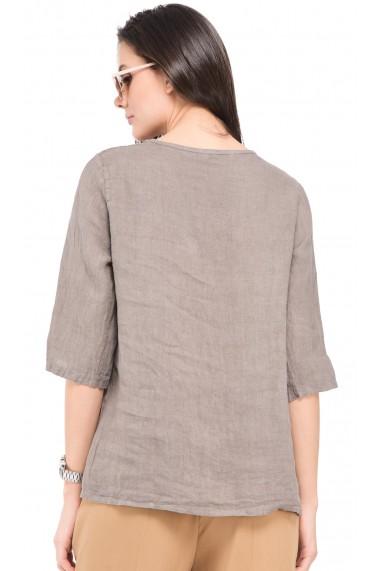 Bluza de vara Le Jardin du Lin E19-12 Gri-bej