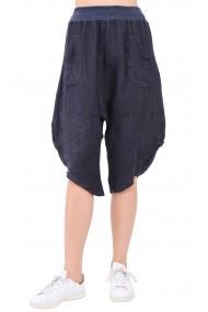 Pantaloni de vara Le Jardin du Lin E19-17 Bleumarin