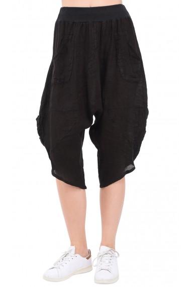 Pantaloni Le Jardin du Lin E19-17 Negru