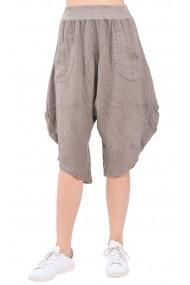 Pantaloni Le Jardin du Lin E19-17 Gri-bej