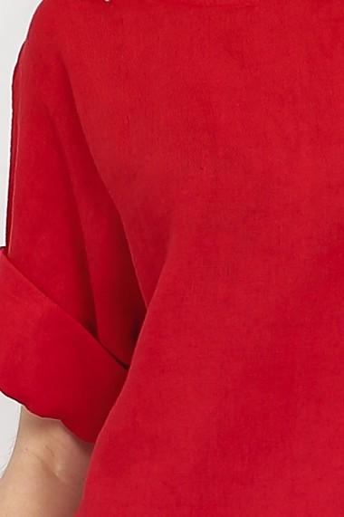 Bluza de vara Le Jardin du Lin E21-01 Rosu