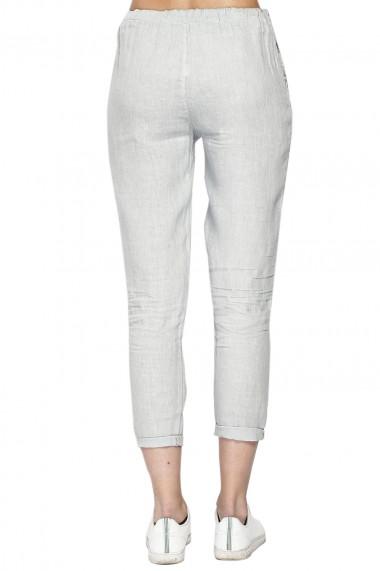 Pantaloni Le Jardin du Lin E21-02 Gri