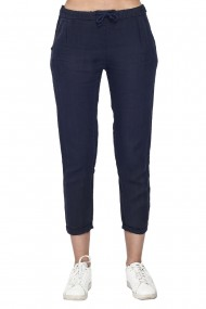 Pantaloni Le Jardin du Lin E21-02 Bleumarin