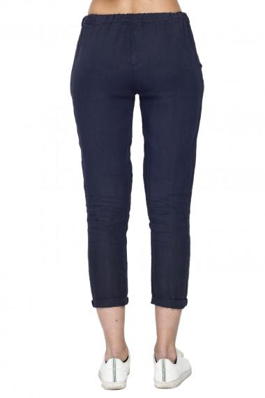 Pantaloni de vara Le Jardin du Lin E21-02 Bleumarin