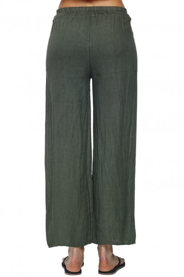 Pantaloni Le Jardin du Lin E21-05 Kaki
