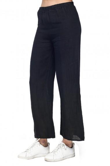 Pantaloni Le Jardin du Lin E21-05 Negru
