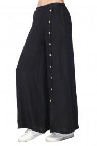 Fusta-pantalon Le Jardin du Lin E21-11 Negru