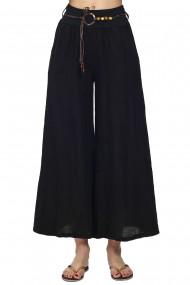 Fusta-pantalon Le Jardin du Lin E21-15 Negru