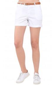 Pantaloni scurti cu curea Assuili LISE Alb