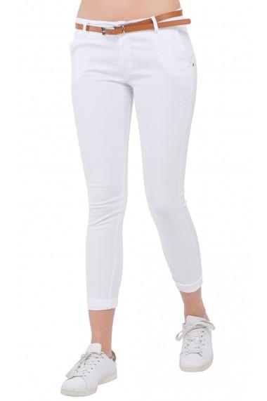 Pantaloni Assuili LYDIA Alb