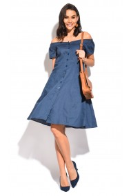Rochie William de Faye WF113 Bleumarin