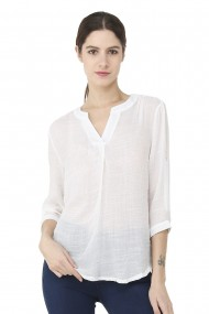 Bluza William de Faye WF148 Alb