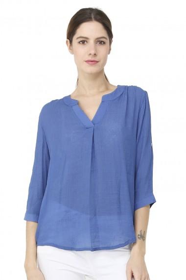 Bluza din viscoza William de Faye WF148 albastra